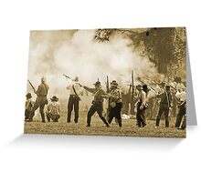 Black powder clouds in sepia Greeting Card
