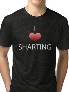 I Heart Sharting Tri-blend T-Shirt