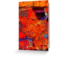 Red Abstract Landscape Painting Greeting Card