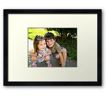 My Two Precious Grandchildren Framed Print