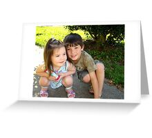 My Two Precious Grandchildren Greeting Card