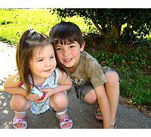 My Two Precious Grandchildren Photographic Print
