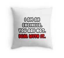 Funny Engineer .. Deal With It Throw Pillow