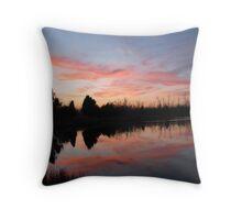 Lakefront Sunset Throw Pillow