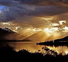 Lake Te Anau at sunset. South Island, New Zealand. (7) by Ralph de Zilva