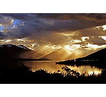 Lake Te Anau at sunset. South Island, New Zealand. (7) Photographic Print