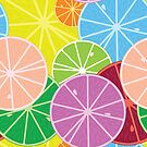 Citrics seamless pattern by Laschon Robert Paul