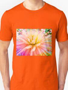 A summer Dahlia flower on vivid background T-Shirt
