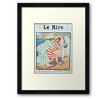 Jules Alexandre Grün Rire Beach Framed Print