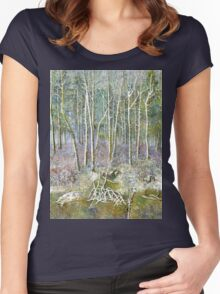 winter forest Women's Fitted Scoop T-Shirt