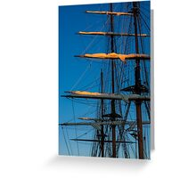 Setting Through The Masts Greeting Card