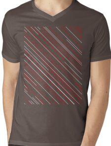Lines Mens V-Neck T-Shirt