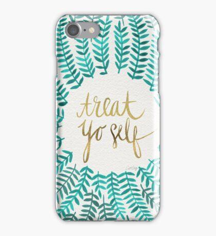 Treat Yo Self – Turquoise iPhone Case/Skin