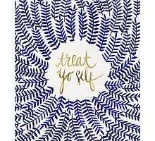 Treat Yo Self – Navy Photographic Print