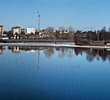 Early spring in Oulu, Finland by Nnebr