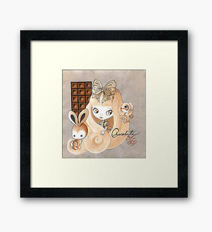 Chocolate And Bunny Dreams Framed Print