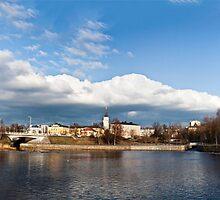 Oulu cityscape from Oulu-river by Nnebr