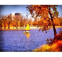 Autumn Sail Photographic Print