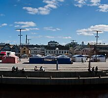 Oulu Market square at summer by Nnebr