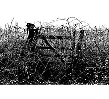 Gate Closed, Please use Diversion..... Photographic Print