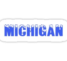 Ice Caps in Michigan Sticker