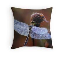 Chrystal dragonfly Throw Pillow