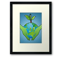 Save Earth Framed Print