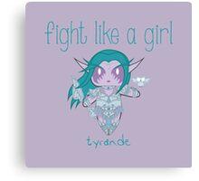 Fight Like a Girl - Elven Priestess Canvas Print