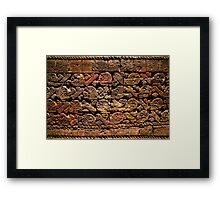 Mayan pictograph at the Anthropological Museum in Mexico City  Framed Print