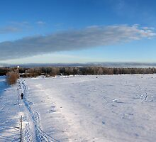 Frozen beach, Nallikari, Oulu, Finland by Nnebr