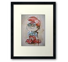 Nostalgia - Papa Smurf Framed Print