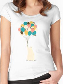 Penguin Bouquet Women's Fitted Scoop T-Shirt