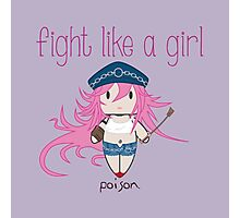 Fight Like a Girl - Poison | Street Fighter Photographic Print