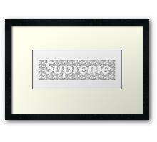 Supreme X Goyard Box Logo Framed Print