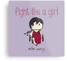 Fight Like a Girl - Zombie Killer Ninja Metal Print