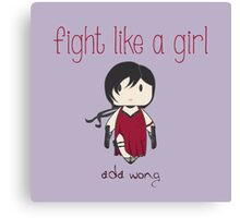 Fight Like a Girl - Ada Wong | Resident Evil Canvas Print