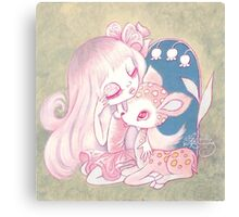 Pink Fawn Heaven Canvas Print