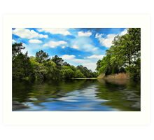 What I remember about that day on the river... Art Print