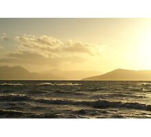 Moody Winter Grecian Sunset Photographic Print
