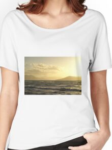 Moody Winter Grecian Sunset Women's Relaxed Fit T-Shirt