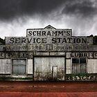 Schramm's Service Station by Darryl Leach