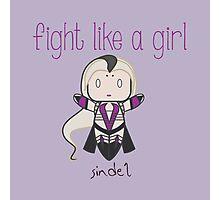 Fight Like a Girl - Mortal Kombat's Sindel Photographic Print