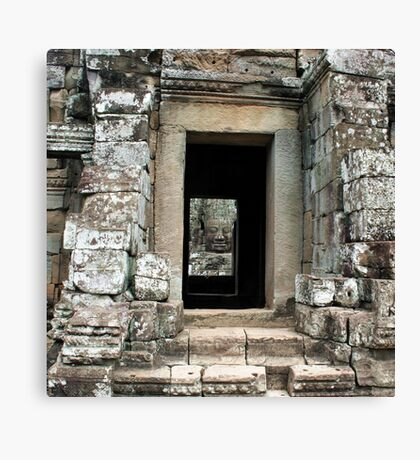 A face in the doorway Canvas Print