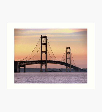 Bridge In Motion Art Print