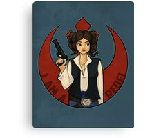 Rebel Girl Canvas Print