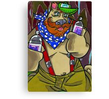 Graffiti Bear Canvas Print