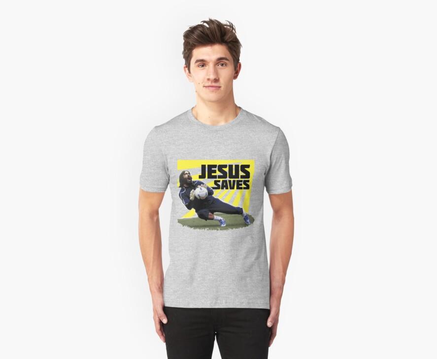 JESUS SAVES ( SOCCER ) by mqdesigns13