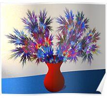 Vase of fractal flowers Poster