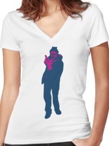 Twelucha Monkeys Women's Fitted V-Neck T-Shirt