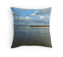 Mudeford peninsula Throw Pillow
